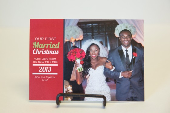 Wedding Christmas Card
