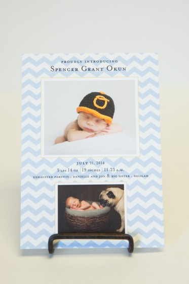 Chevron Birth Announcement